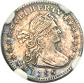 Early Half Dimes, 1796 H10C LIKERTY AU58 NGC. V-1, LM-1, R.3....