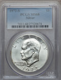 Eisenhower Dollars: , 1972-S $1 Silver MS68 PCGS. PCGS Population (1486/15). NGC Census:(387/5). Mintage: 2,193,056. Numismedia Wsl. Price for p...