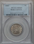 Liberty Nickels: , 1883 5C With Cents MS64 PCGS. PCGS Population (358/191). NGCCensus: (313/187). Mintage: 16,032,983. Numismedia Wsl. Price ...