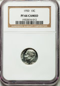 Proof Roosevelt Dimes: , 1950 10C PR66 Cameo NGC. NGC Census: (52/111). PCGS Population(78/94). ...