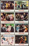 "Movie Posters:Musical, Meet Me in Las Vegas (MGM, 1956). Lobby Card Set of 8 (11"" X 14""). Musical.. ... (Total: 8 Items)"