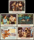 "Movie Posters:Adventure, Tarzan and the Lost Safari (MGM, 1957). Title Lobby Card &Lobby Cards (4) (11"" X 14""). Adventure.. ... (Total: 5 Items)"
