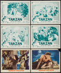 "Movie Posters:Adventure, Tarzan Escapes & Other Lot (MGM, R-1954). Lobby Cards (6) (11""X 14""). Adventure.. ... (Total: 6 Items)"