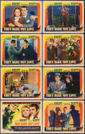"""Movie Posters:War, They Dare Not Love (Columbia, 1941). Lobby Card Set of 8 (11"""" X14""""). War.. ... (Total: 8 Items)"""