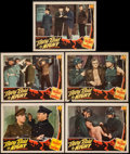 "Movie Posters:War, They Raid by Night (PRC, 1942). Lobby Cards (5) (11"" X 14""). War..... (Total: 5 Items)"