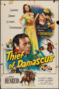 "Movie Posters:Adventure, Thief of Damascus (Columbia, 1952). One Sheet (27"" X 41""), Lobby Card Set of 8 & Lobby Card (11"" X 14""). Adventure.. ... (Total: 10 Items)"