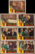 """Movie Posters:War, This Land is Mine (RKO, 1943). Lobby Cards (7) (11"""" X 14""""). War..... (Total: 7 Items)"""