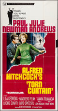 "Movie Posters:Hitchcock, Torn Curtain (Universal, 1966). Three Sheet (41"" X 81"") & LobbyCards (6) (11"" X 14""). Hitchcock.. ... (Total: 7 Items)"
