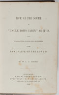 """Books:Literature 1900-up, [Slavery]. W. L. G. Smith. Life at the South: or, """"Uncle Tom's Cabin"""" As It Is. Derby, 1852. Publisher's decorated c..."""