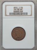 Half Cents: , 1828 1/2 C 13 Stars AU58 NGC. NGC Census: (164/390). PCGSPopulation (118/250). Mintage: 606,000. Numismedia Wsl. Pricefor...