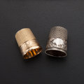 Estate Jewelry:Other , Gold, Silver Thimbles. ... (Total: 2 Items)