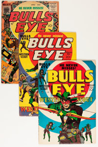 Bulls-Eye #1 and 4-6 Group (Mainline Publications, 1954-55) Condition: VG.... (Total: 4 Comic Books)