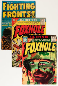 Foxhole Plus Group (Charlton, 1954-55) Condition: Average VG/FN.... (Total: 5 Comic Books)