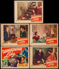 """Movie Posters:Crime, Dangerous Lady (PRC, 1941). Title Lobby Card & Lobby Cards (4)(11"""" X 14""""). Crime.. ... (Total: 5 Items)"""