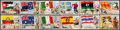 """Non-Sport Cards:Sets, 1956 Topps """"Flags of the World"""" Near Set (74/80) Plus Over 100 Extras. ..."""