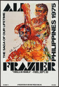 "Movie Posters:Sports, Ali vs. Frazier, The ""Thrilla in Manila"" (Don King Productions, 1975). Closed Circuit Showing Window Card (14"" X 22""). Sport..."
