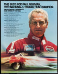 "Movie Posters:Sports, Paul Newman Budweiser Racing Poster (Anheuser-Busch, 1979). Advertising Poster (22"" X 28""). Sports.. ..."