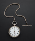 Timepieces:Pocket (pre 1900) , Swiss Silver Key Wind Pocket Watch. ...