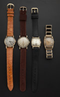 Timepieces:Wristwatch, A Lot Of Four Vintage Hamilton Wristwatches Runners. ... (Total: 4 Items)