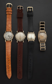 A Lot Of Four Vintage Hamilton Wristwatches Runners