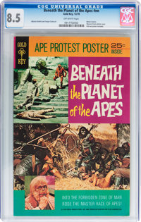 Movie Comics: Beneath the Planet of the Apes #nn (Gold Key, 1970) CGC VF+ 8.5 Off-white pages
