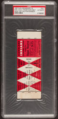 Baseball Collectibles:Tickets, 1957 Cleveland Indians Opening Day Ticket Proof PSA Authentic -Roger Maris 1st Game!...