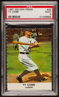 1961 Golden Press Ty Cobb #25 PSA Mint 9
