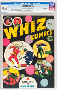 Whiz Comics #77 Crowley Copy pedigree (Fawcett Publications, 1946) CGC NM+ 9.6 Cream to off-white pages