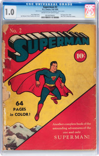 Superman #2 (DC, 1939) CGC FR 1.0 Cream to off-white pages