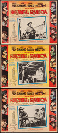 """Movie Posters:Western, The Big Country and Other Lot (United Artists, 1958). Mexican Lobby Cards (3) (12.5"""" X 16.5""""), and Belgian Poster (12"""" x 21""""... (Total: 4 Items)"""