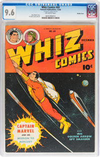Whiz Comics #69 Double Cover (Fawcett Publications, 1945) CGC NM+ 9.6 Off-white pages