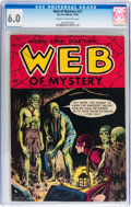 Golden Age (1938-1955):Horror, Web of Mystery #27 (Ace, 1954) CGC FN 6.0 Cream to off-whitepages....
