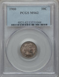 Barber Dimes: , 1900 10C MS62 PCGS. PCGS Population (46/133). NGC Census: (33/150).Mintage: 17,600,912. Numismedia Wsl. Price for problem ...