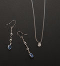 Estate Jewelry:Lots, Sapphire, Diamond, White Gold Jewelry. ...