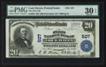 National Bank Notes:Pennsylvania, Lock Haven, PA - $20 1902 Plain Back Fr. 650 The First NB Ch. #507. ...