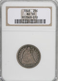 Seated Quarters: , 1848 25C AU50 NGC. NGC Census: (4/18). PCGS Population (4/13).Mintage: 146,000. Numismedia Wsl. Price for NGC/PCGS coin in...