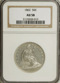 Seated Half Dollars: , 1862 50C AU58 NGC. NGC Census: (7/43). PCGS Population (4/54).Mintage: 253,000. Numismedia Wsl. Price for NGC/PCGS coin in...