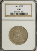 Seated Half Dollars: , 1861-S 50C XF45 NGC. NGC Census: (5/53). PCGS Population (2/47).Mintage: 939,500. Numismedia Wsl. Price for NGC/PCGS coin ...