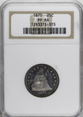 Proof Seated Quarters, 1870 25C PR64 NGC....