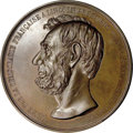 U.S. Presidents & Statesmen, 1865 French Abraham Lincoln Mourning Medal in Bronze....