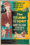 "Movie Posters:Crime, The Miami Story (Columbia, 1954). Silk Screened Poster (40"" X 60"").Crime.. ..."