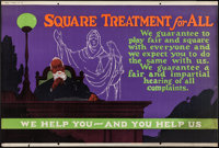 "Square Treatment for All (Mather, 1923). Motivational Poster (28"" X 41.5""). Miscellaneous"