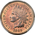Indian Cents, 1869 1C MS66 Red and Brown PCGS. CAC....