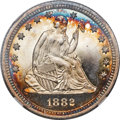 Proof Seated Quarters, 1882 25C PR68 Cameo NGC....