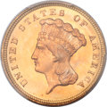 Three Dollar Gold Pieces, 1879 $3 MS65 PCGS Secure. CAC....