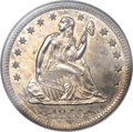 Proof Seated Quarters, 1855-S 25C PR64 NGC. CAC. Briggs 1-A....