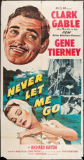 "Movie Posters:Adventure, Never Let Me Go (MGM, 1953). Three Sheet (41"" X 79""). Adventure....."
