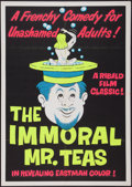 "Movie Posters:Sexploitation, The Immoral Mr. Teas (Pad-Ram Enterprises, 1959). Silk ScreenDay-Glo Poster (30"" X 42.5"") & Uncut Pressbook (4 Pages, 11""X... (Total: 2 Items)"