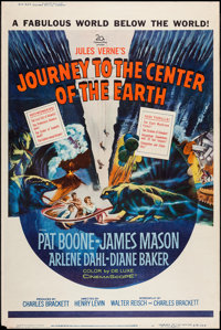 """Journey to the Center of the Earth (20th Century Fox, 1959). Poster (40"""" X 60"""") Style Z. Science Fiction"""