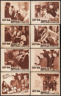 "Movie Posters:Crime, Let 'em Have It (Astor, R-1941). Lobby Card Set of 8 (11"" X 14"").Crime.. ... (Total: 8 Items)"
